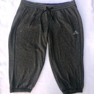 Adidas gray sweatpants Capris